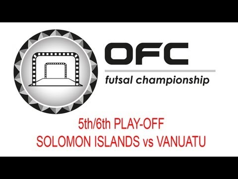 2013 OFC Futsal Championship Invitational Match Day 4 Solomon Islands vs Vanuatu