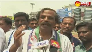 YSRCP Leader Dr Nagesh  made celebrations for 3000km padayatra