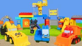 BOB DER BAUMEISTER: Spielzeugautos, Bagger & Kran wie LEGO DUPLO  | Unboxing deutsch für Kinder
