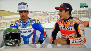 Toni y Marc en el plato de Movistar tras ganar la carrera del Motoamerica el primero y la carrera de