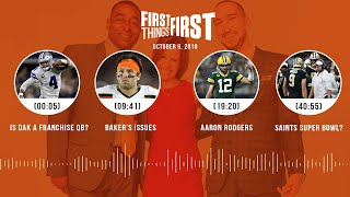 First Things First Audio Podcast (10.9.19)Cris Carter, Nick Wright, Jenna Wolfe | FIRST THINGS FIRST