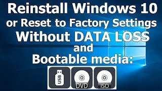 How to Reinstall or Reset Windows 10 without DVD, USB, ISO or other Bootable media