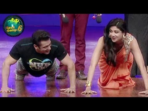 Salman Khan & Shilpa Shetty PUSHUPS on Nach baliye 6 11th January...
