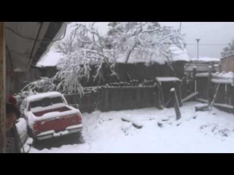 Nieve tumba domo En San Miguel de Cruces Durango Mexico