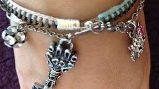 DIY Zipper Bracelet with Pendants
