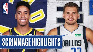 PACERS at MAVERICKS | SCRIMMAGE HIGHLIGHTS | July 26, 2020