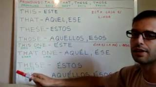 INGLES 26: Pron. demostrativos This That These Those