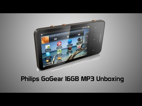 Philips GoGear 16GB Android MP3 Player Unboxing