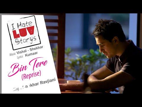 Bin Tere - Reprise - Official Audio Song | I Hate Luv Storys| Vishal Shekhar | Kumaar