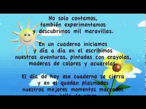 Poema graduación kinder - Imagui