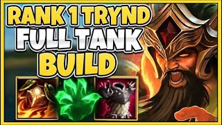 #1 TRYNDAMERE WORLD UNDYING TANK BUILD (YOU CAN'T KILL ME) - League of Legends