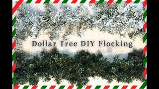 DOLLAR TREE DIY SNOW FLOCKING   HOW TO FLOCK YOUR CHRISTMAS GARLAND & TREE   Momma from scratch