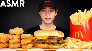 ASMR CHICKEN NUGGETS & TRIPLE CHEESEBURGER MUKBANG (No Talking) EATING SOUNDS | Zach Choi ASMR