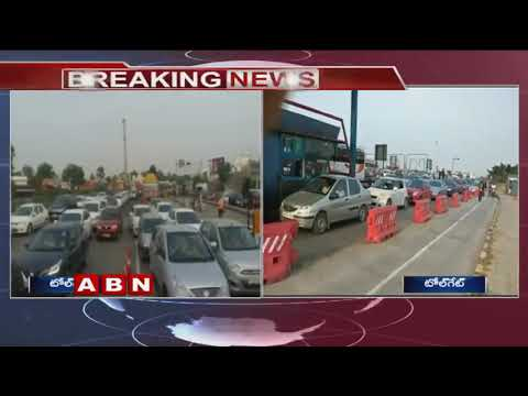 Dussehra Effect | Huge Traffic Jam at Vijayawada Toll Gates | ABN Telugu
