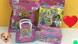 Blind Bags Barbie Pets Animal Jam Shopkins Happy Places Pets Kids Toy Review Video | Jelly Frog Toys