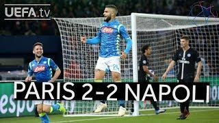 PARIS 2-2 NAPOLI UCL HIGHLIGHTS