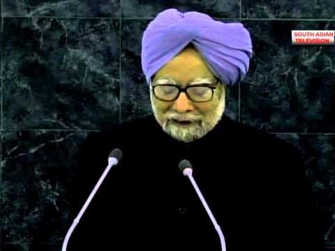 Indian Prime Minister Manmohan Singh  addresses UNGA