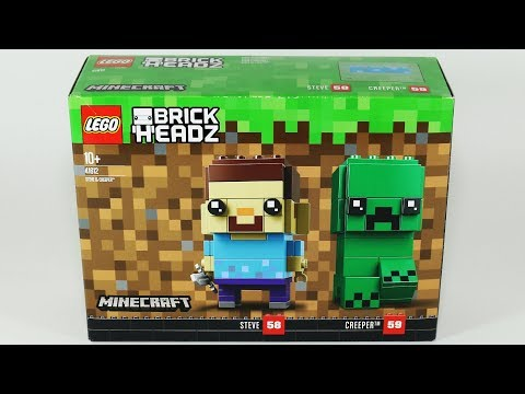 Minecraft Lego Brick Headz Steve & Creeper