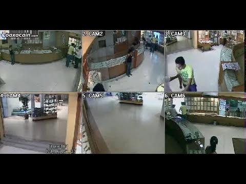 Video muestra robo millonario  a joyería en Huatulco, Oaxaca