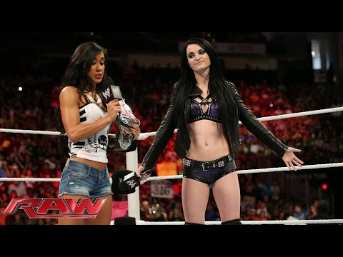 Paige addresses her attack on AJ Lee: Raw July 28 2014