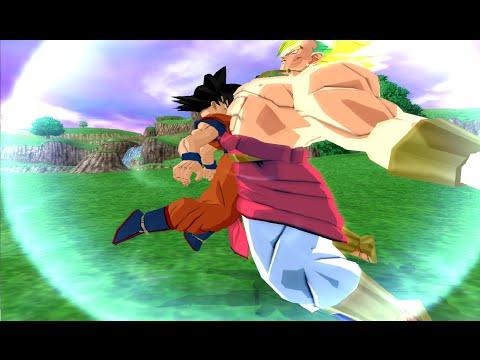 Goku And Broly Legendary Super Saiyan Fusion! Budokai Tenkaichi...