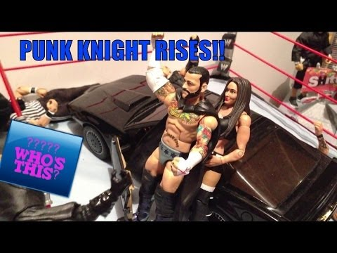 GTS WRESTLING: Punk Knight Rises! WWE action figures matches animation! Figure stop motion style