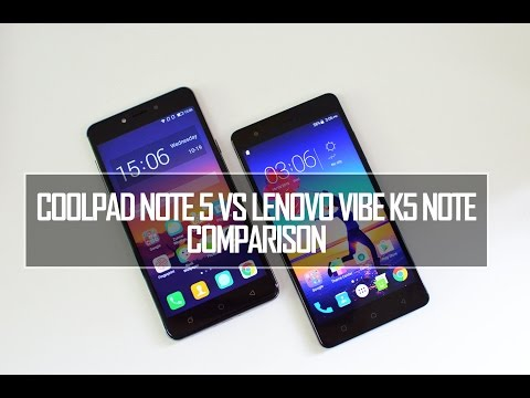 Coolpad Note 5 vs Lenovo Vibe K5 Note- Comparison, Software, Performance and Camera