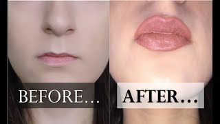 ? HOW TO OVERLINE SMALL LIPS // no lip fillers, naturally and for tiny lips ?