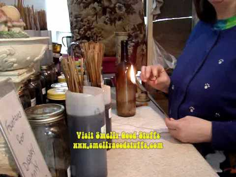 How to burn incense in a smoke bottle