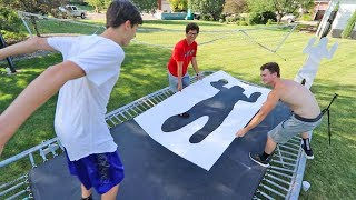 JUMP THROUGH THE SHAPES TRAMPOLINE CHALLENGE! *IMPOSSIBLE*