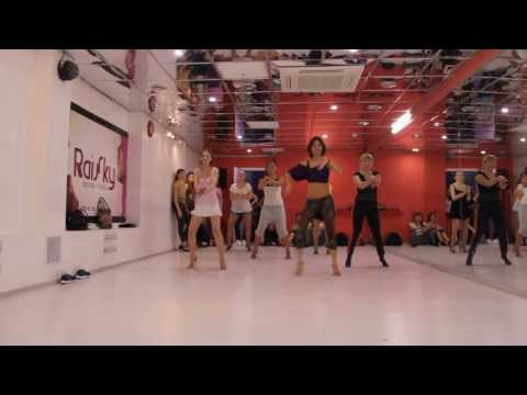 Short latin routine for beginners in Raisky Dance Studio, teacher - Jane Kornienko