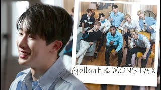 Working with idol groups?! On set with MONSTA X & Gallant
