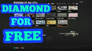 HOW TO GET DIAMOND CAMO ON ALL GUNS GLITCH - Call Of Duty Black Ops 2
