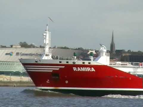 Near Collision - Mersey Ferry and Gas Tanker The Ramira