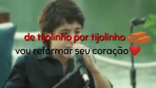 Enzo Rabelo - tijolinho por tijolinho l Part. Zé Felipe (Tipografia) para status de whatsapp