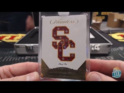 2017 Panini Flawless Collegiate Football Box Break #1 - 2018 NFL Rookie Round Up Live From LA!