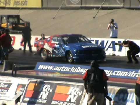 2000hp mustang runs 6.8 at 203mph in street car series 2008.