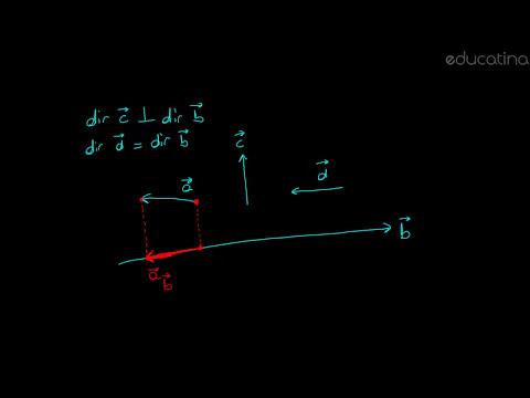 Proyección de un vector sobre otro - Álgebra - Educatina