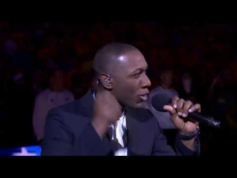 Aloe Blacc Sings the National Anthem for Game 7 of the 2016 NBA Finals