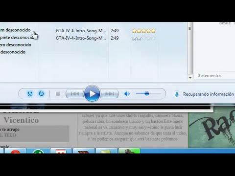 Como cambiar la carátula de una Canción Windows Media Player (Hecho por VICENROJO9)