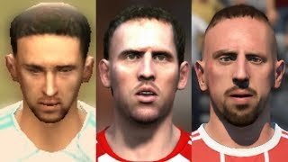 Ribery transformation from FIFA 05 to FIFA 18