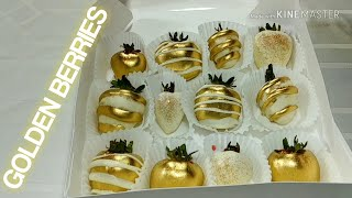 Painting Your Chocolate Dipped Strawberries Gold