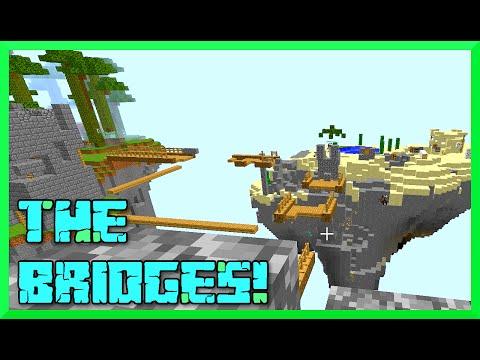 Minecraft - Bridges GamePlay with Audrey, Jason and Chad - Team Work FTW