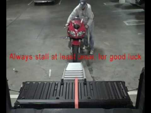 How To Load A Motorcycle Alone