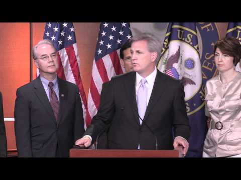 House Majority Whip Kevin McCarthy At House Republican Leadership Press Conference 7/15/11