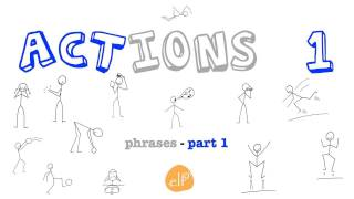 Learn Actions Vocabulary 1 - Listen and Repeat - ELF Learning