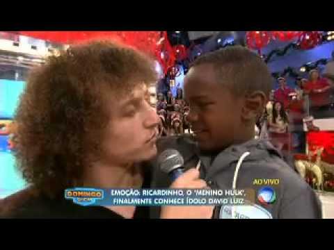 Encontro de Ricardinho com David Luiz