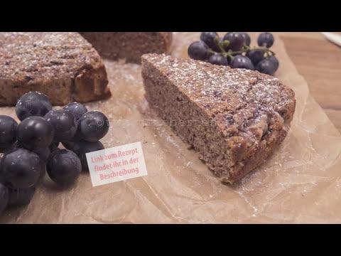 Anti-Aging Weintrauben-Kuchen mit wenig Kohlenhydrate