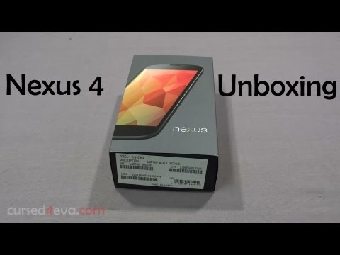 Google Nexus 4 - First Look & Unboxing (India) - Cursed4Eva.com