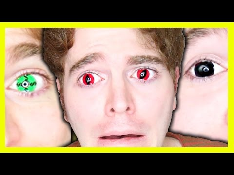 WEARING CRAZY CONTACT LENSES